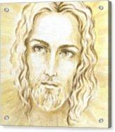 Jesus In Light Acrylic Print by Stoyanka Ivanova