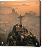 Jesus In Rio Acrylic Print by Christian Heeb