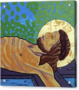 Jesus Is Nailed To The Cross Acrylic Print
