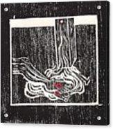Jesus Is Taken Down From Cross Acrylic Print