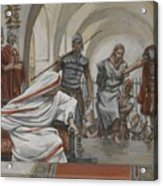Jesus Led From Herod To Pilate Acrylic Print by Tissot