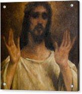 Jesus Meets The Daughters Of Jerusalem. Jesus Comfort Them. 8. Station Of The Cross Acrylic Print