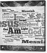 Jesus Messiah Acrylic Print