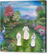 Jesus Mother Theresa And Gandhi Acrylic Print
