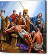 Jesus Nailed To The Cross Acrylic Print