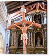 Jesus On The Cross In San Ramon, Bolivia Acrylic Print