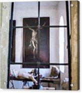 Jesus On The Cross Acrylic Print