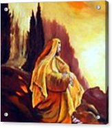 Jesus On The Mountain Acrylic Print