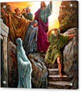 Jesus Raises Lazarus Acrylic Print