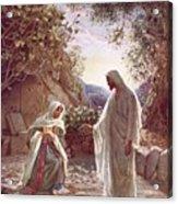 Jesus Revealing Himself To Mary Magdalene Acrylic Print by William Brassey Hole