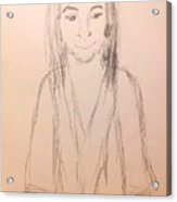 Jesus, Rough Sketch Acrylic Print