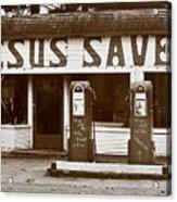Jesus Saves 1973 Acrylic Print