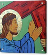 Jesus Takes Up His Cross Acrylic Print