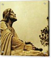 Jesus Teach Us To Pray - Christian Art Prints Acrylic Print