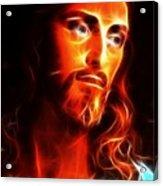 Jesus Thinking About You Acrylic Print by Pamela Johnson