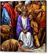 Jesus Tormented Acrylic Print