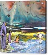 Jesus Walking On The Water Acrylic Print