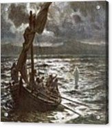 Jesus Walking Upon The Sea Acrylic Print by William Brassey Hole