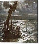 Jesus Walking Upon The Sea Acrylic Print