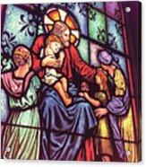 Jesus With The Children Acrylic Print