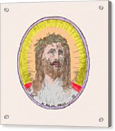 Jesus With The Crown Of Thorns Acrylic Print