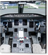 Jet Airplane Cockpit Acrylic Print by Jaak Nilson