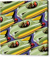Jet Racer Rush Hour Acrylic Print by Ron Magnes