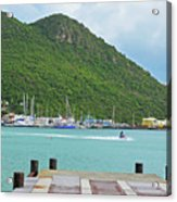 Jet Ski On The Lagoon Caribbean St Martin Acrylic Print