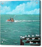 Jet Ski Seascape Acrylic Print