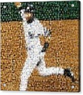 Jeter Walk-off Mosaic Acrylic Print by Paul Van Scott