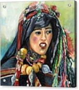 Jeune Femme Berbere De Atlas Marocain Acrylic Print