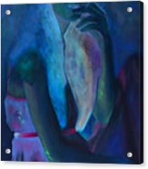 Jeune Fille A La Cigarette Acrylic Print