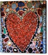 Jewel Heart Acrylic Print