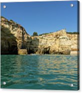Jewel Toned Ocean Art - Gliding By Sea Caves And Secluded Beaches Acrylic Print