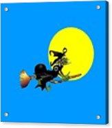 Jewish Flying Witch Acrylic Print