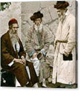 Jews In Jerusalem, C1900 Acrylic Print