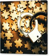 Jigsaw Of Misconduct Bribery And Entanglement Acrylic Print
