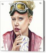 Jillian Holtzmann Ghostbusters Portrait Acrylic Print