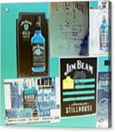 Jim Beam Signs On Display - Color Invert Acrylic Print