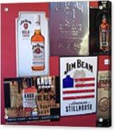Jim Beam Signs On Display Acrylic Print