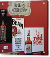 Jim Beam's Old Crow And Red Stag Signs Acrylic Print