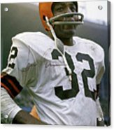 Jim Brown, Cleveland Browns, Signed Acrylic Print