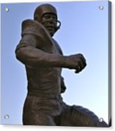 The Jim Brown Statue, Cleveland Browns Nfl Football Club, Cleveland, Ohio, Usa Acrylic Print