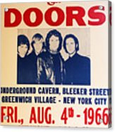 Jim Morrison And The Doors Poster Collection 3 Acrylic Print