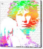 Jim Morrison Artwork Acrylic Print