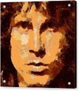 Jim Morrison - Digital Art Acrylic Print