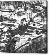 Jim Thorpe Pennsylvania In Winter In Black And White Acrylic Print
