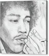 Jimi Hendrix Artwork Acrylic Print by Roly Orihuela