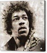 Jimi Hendrix by Mary Bassett Acrylic Print