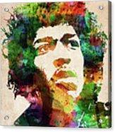 Jimi Hendrix colorful portrait Acrylic Print